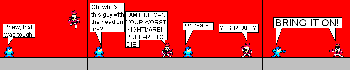 Fire Man and his many poses